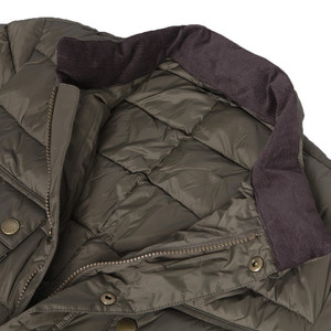 Steve mcqueen jefferies baffle quilted olive jacket at oxygenclothing.co.uk