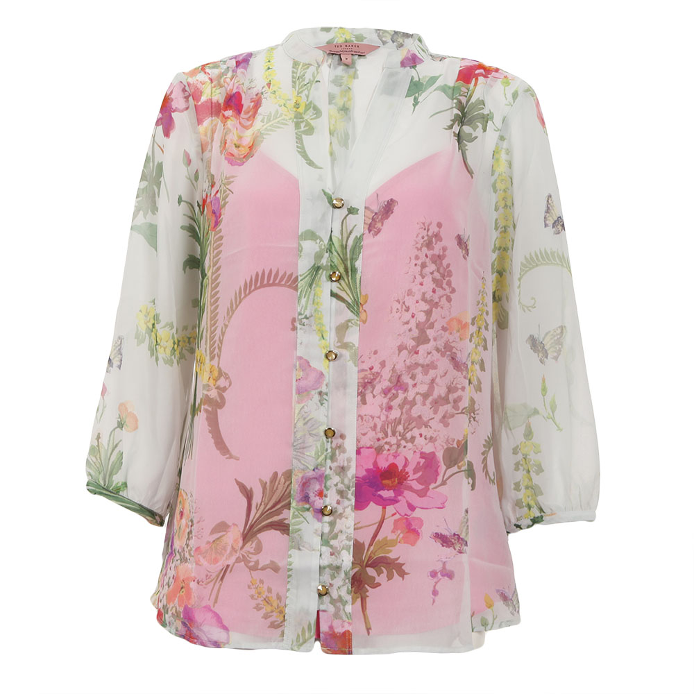 Ted baker kimmie wallpaper floral print shirt masdings for Ted baker floral print shirt