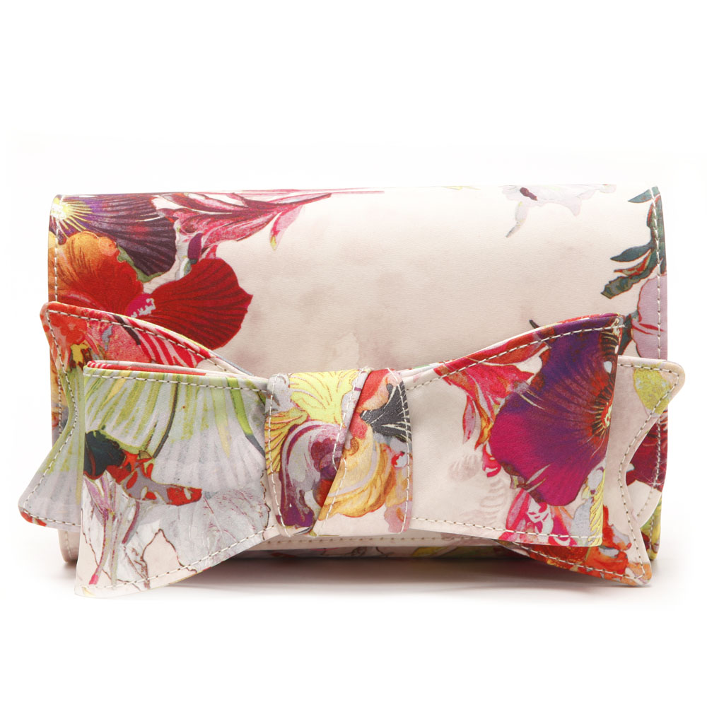 Ted Baker Sowa Treasured Orchid Bow Clutch Bag main image