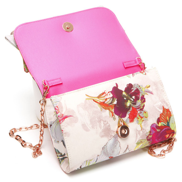 Ted Baker Womens Pink Ted Baker Sowa Treasured Orchid Bow Clutch Bag main image