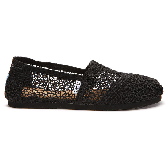 Toms Womens Black Classic Crochet main image