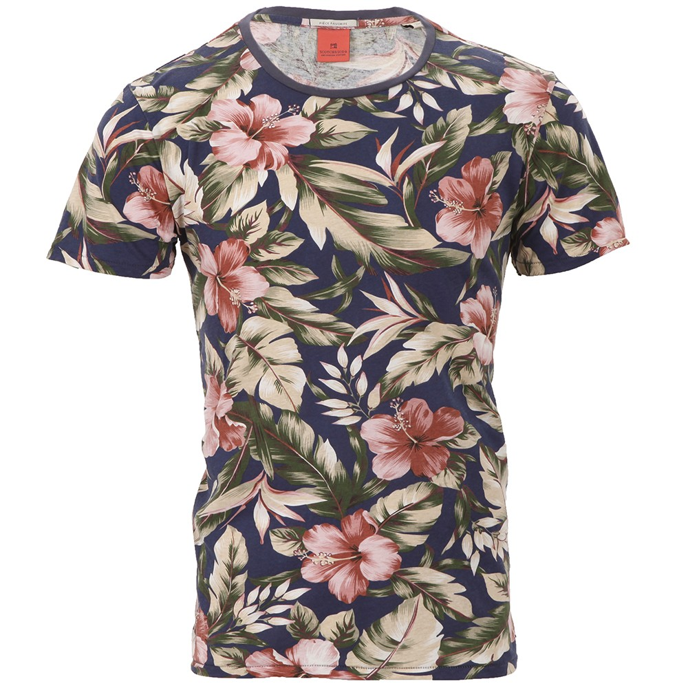 Scotch & Soda Floral Print Tee main image