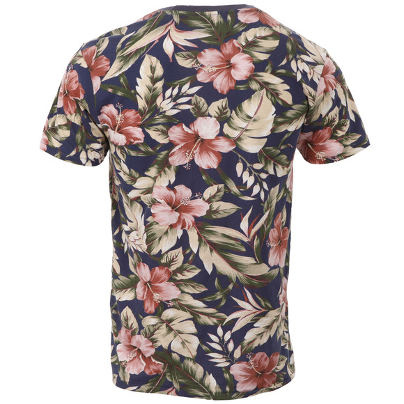 Scotch & Soda Mens Multicoloured Scotch & Soda Floral Print Tee main image