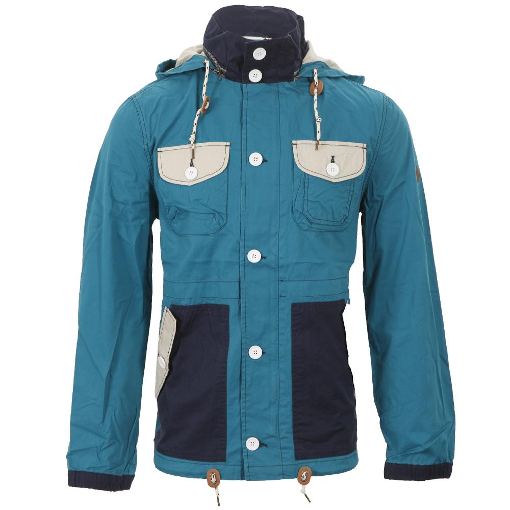 Bellfield Teal Block Colour Fisherman Jacket