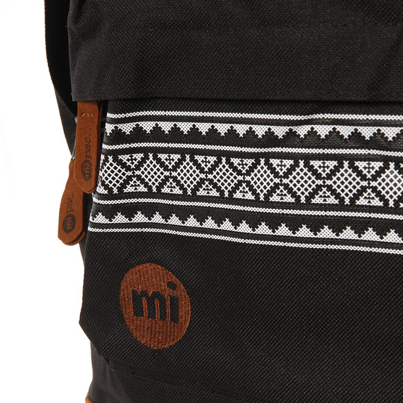 Mi Pac Unisex Black Nordic Pocket Print Backpack main image
