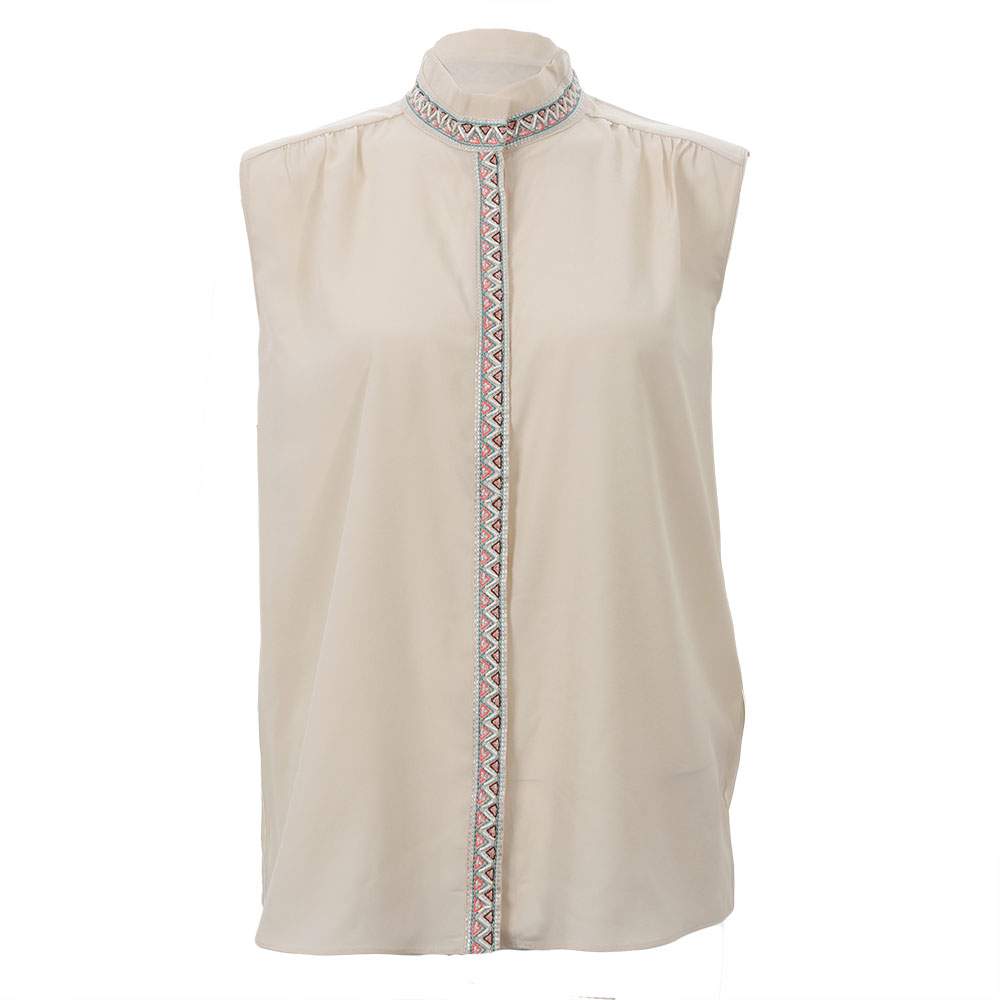 Sleeveless Drapey Shirt main image