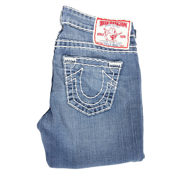 True Religion Womens Blue Stella Super T Jean main image