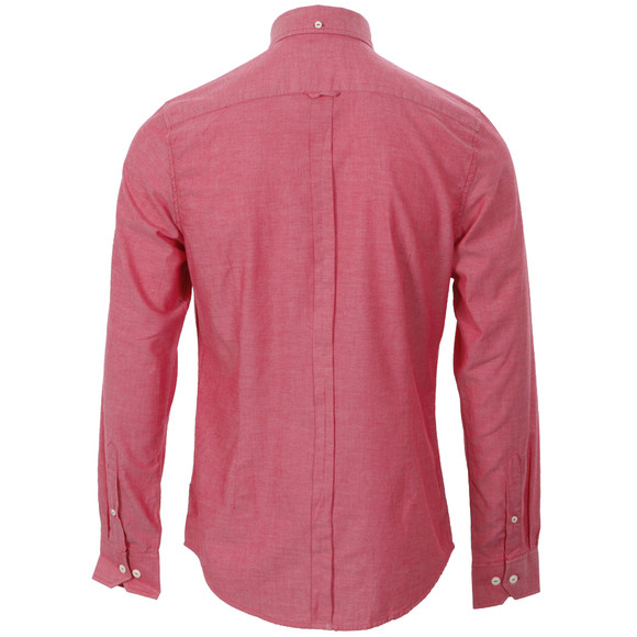 Ben Sherman Mens Red Ben Sherman MA00553 Slim Fit Red Oxford Shirt main image