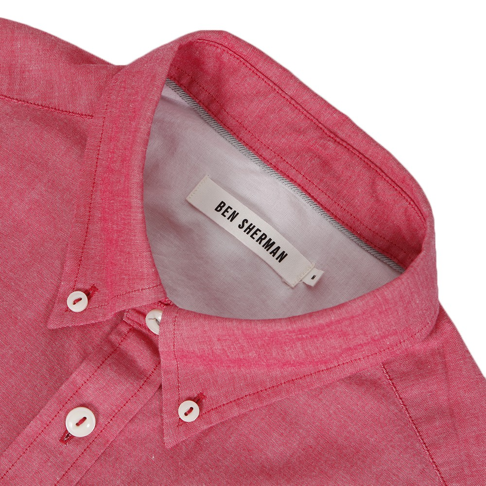 Ben Sherman MA00553 Slim Fit Red Oxford Shirt main image