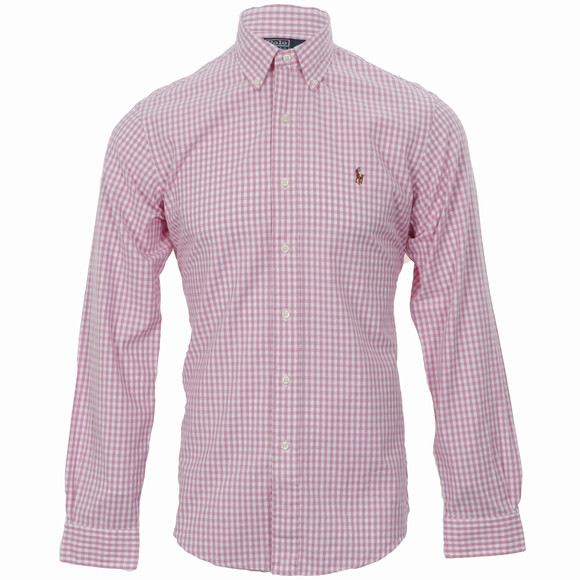 Ralph Lauren Pink Oxford Check Shirt Oxygen Clothing