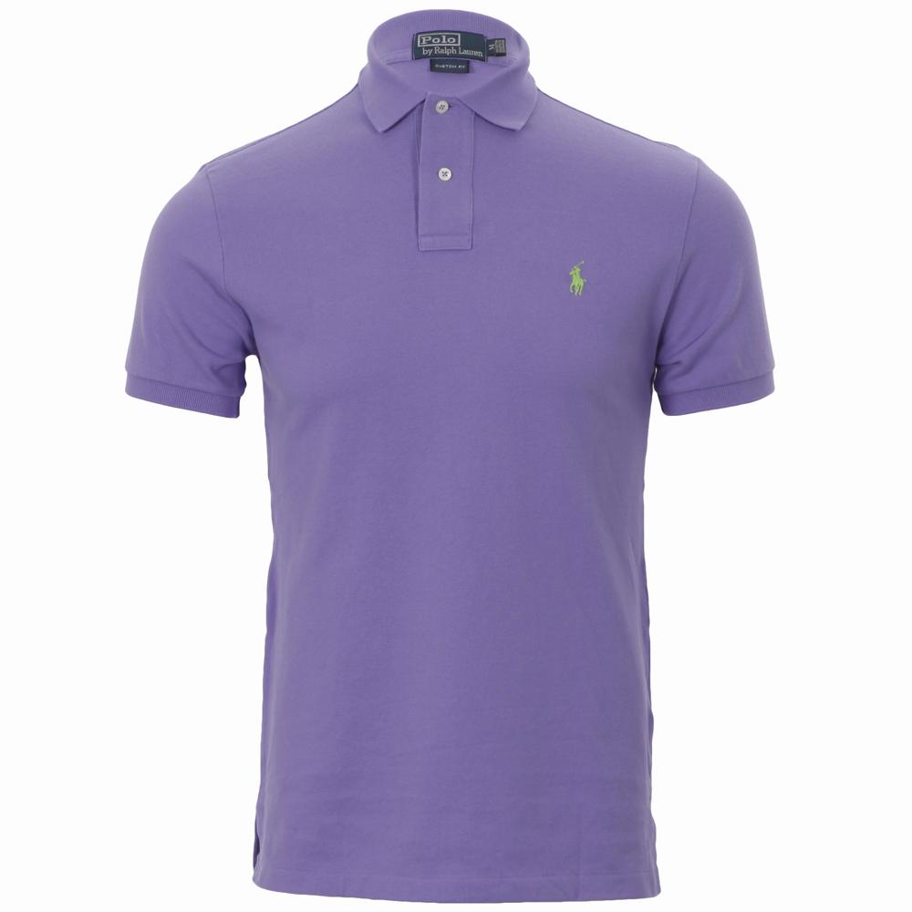 Ralph Lauren Hampton Purple Custom Fit Polo Shirt Oxygen
