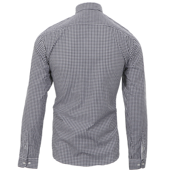 Lacoste ch6022 slim fit gingham check shirt oxygen clothing for Slim fit gingham check shirt