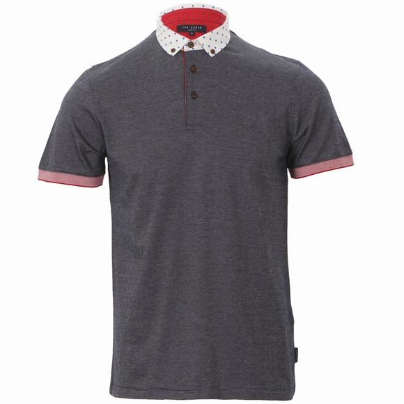 Ted baker navy pique polo shirt oxygen clothing for Ted baker mens polo shirts