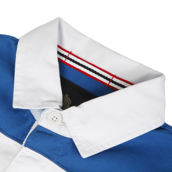 Musto Mens Blue Musto Eddy Cut & Sew Rugby Polo main image