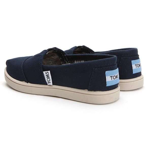 Toms Boys Blue Toms Youth Classic Canvas in Navy main image
