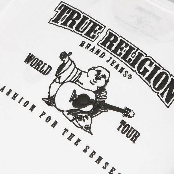 True Religion Traditional Logo White Crew Tee | Oxygen ...