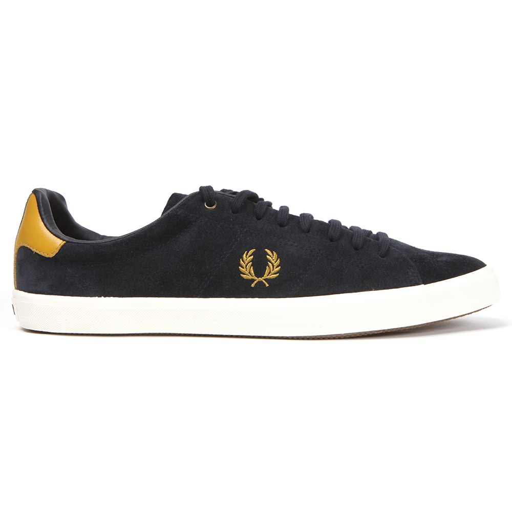 Fred Perry Bradley Wiggins Howells Navy Suede Trainers