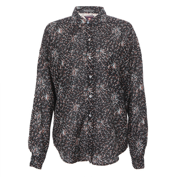 Maison Scotch Womens Black 20702 Printed Boxy Fit Shirt main image
