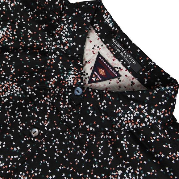 Maison Scotch Womens Black 20702 Printed Boxy Fit Shirt main image