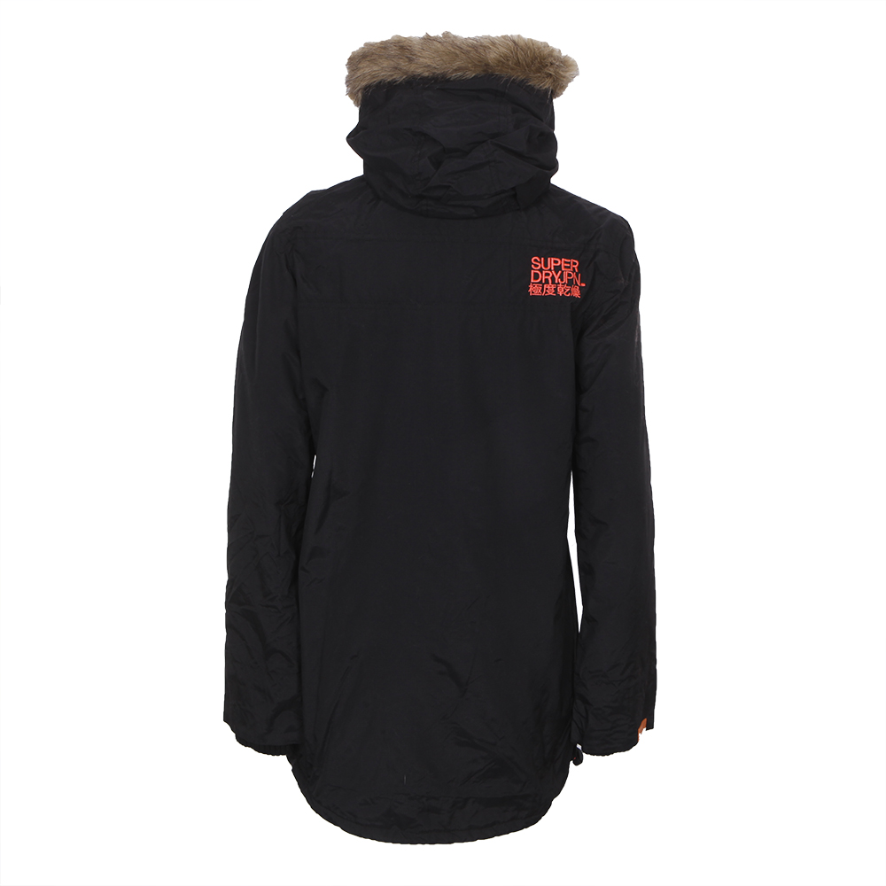 Superdry Polar Pop Zip Wind Parka - Blk/Coral main image