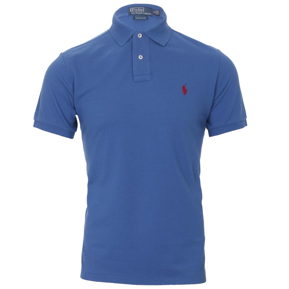 Ralph Lauren Custom Fit Blue Polo Shirt Oxygen Clothing