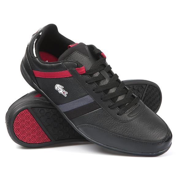 Lacoste Mens Black Lacoste Giron SPM Black/Red Trainer main image