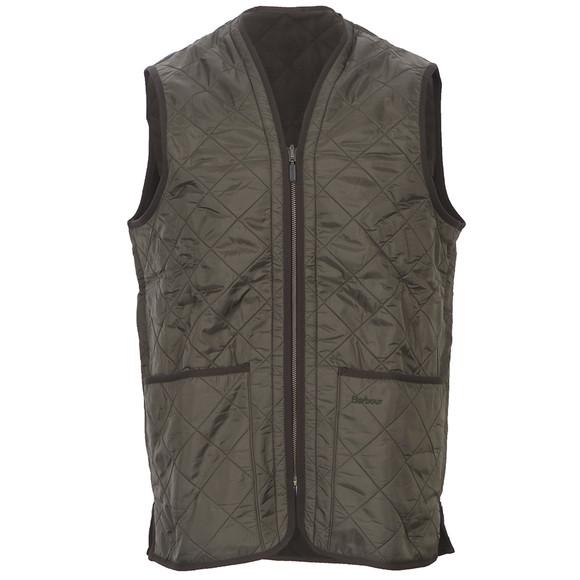 Barbour Lifestyle Mens Green Polarquilt Waistcoat/Zip In main image
