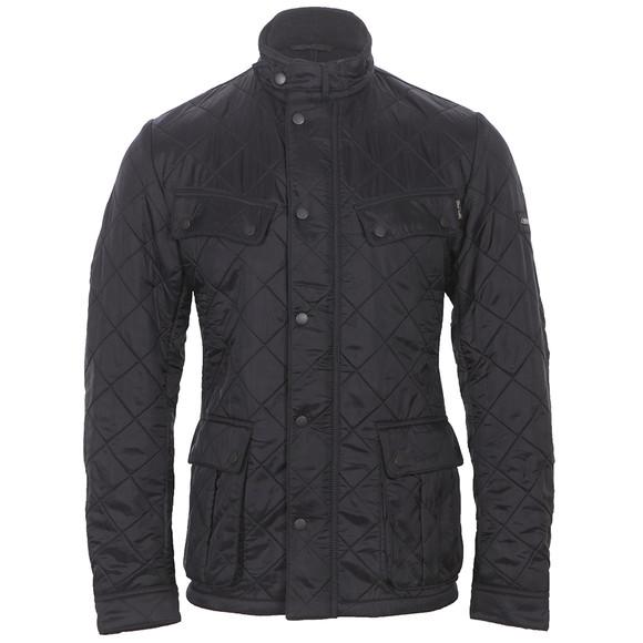 Barbour International Mens Black Ariel Polarquilt Jacket main image