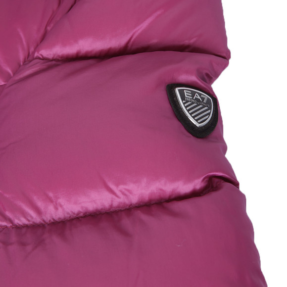 EA7 Emporio Armani Womens Pink Hooded Mountain Down Jacket main image