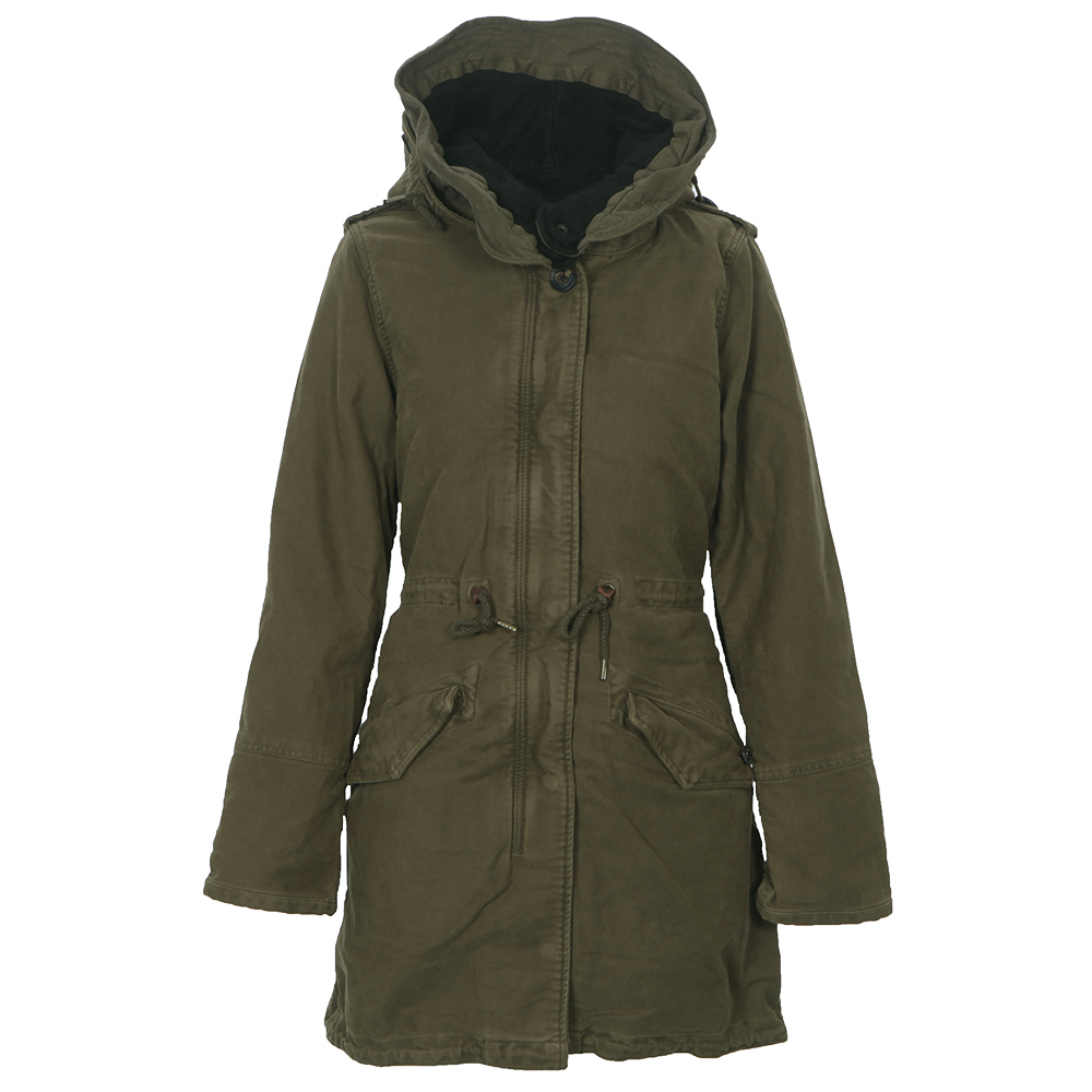 maison scotch army garment dyed peached cotton parka. Black Bedroom Furniture Sets. Home Design Ideas