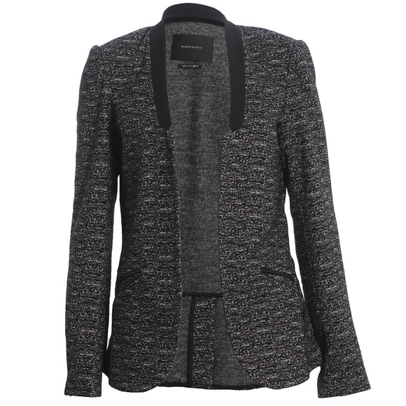 Maison Scotch Womens Black Unlined Stretch Wool Blazer main image