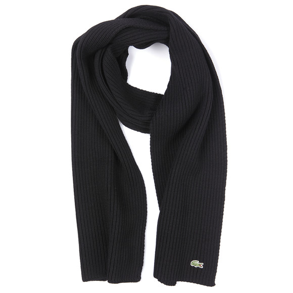 Lacoste Mens Black Lacoste RE4212 Scarf main image