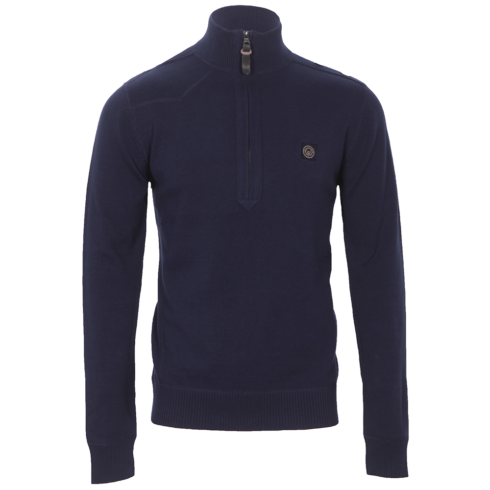 Duck And Cover Hercules Half Zip Knit
