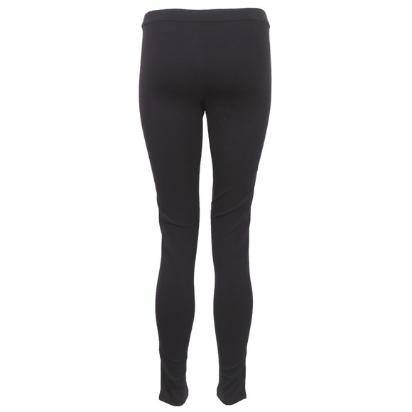 Michael Kors Womens Black Michael Kors Black Leather Look Legging main image