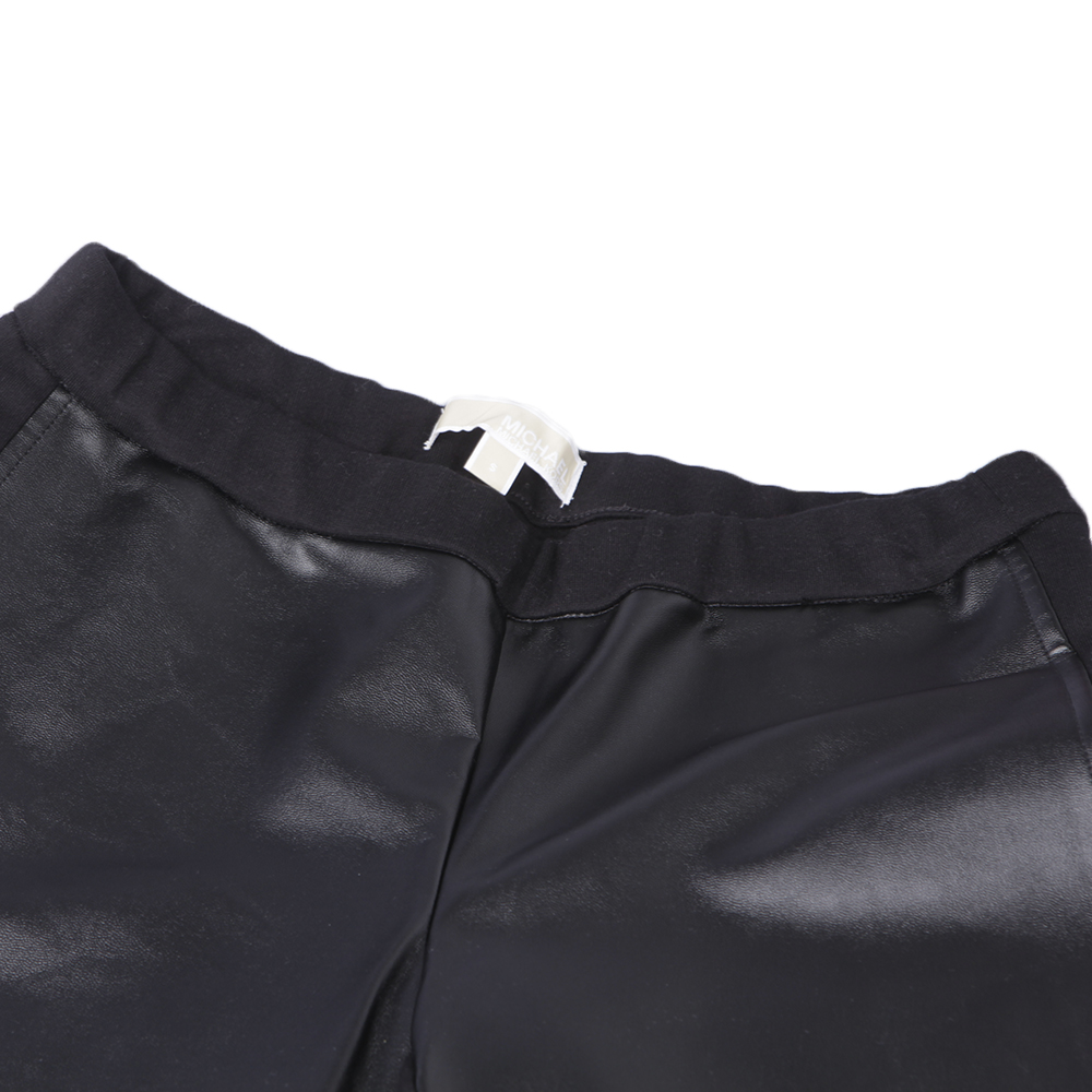 Michael Kors Black Leather Look Legging main image