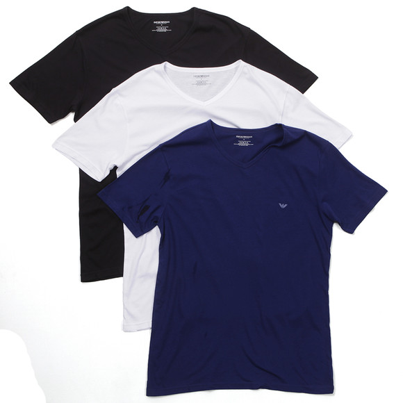 Armani t Shirt Pack 3 Pack v Neck T-shirt Main