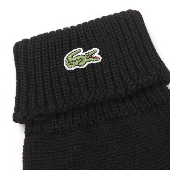 Lacoste Mens Black  Knitted Gloves main image