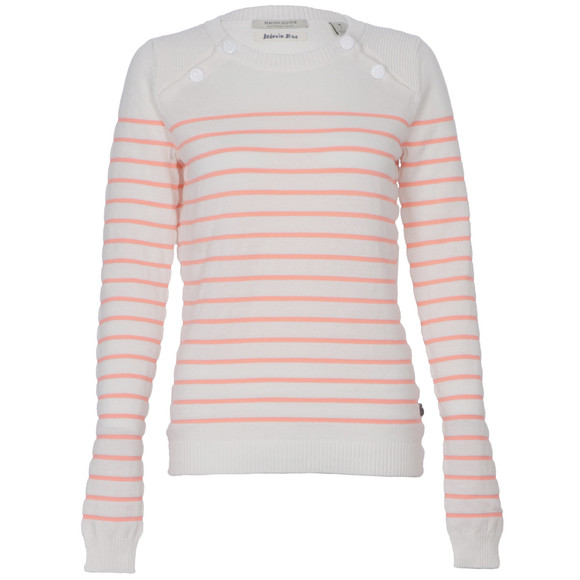 Maison Scotch Womens White Sailor Inspired Knitted Top main image