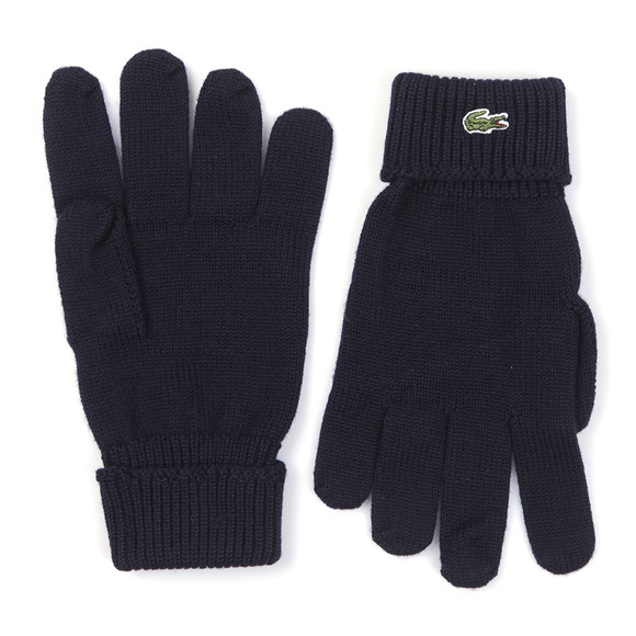 Lacoste Mens Blue Lacoste RV4214 Knitted Gloves main image