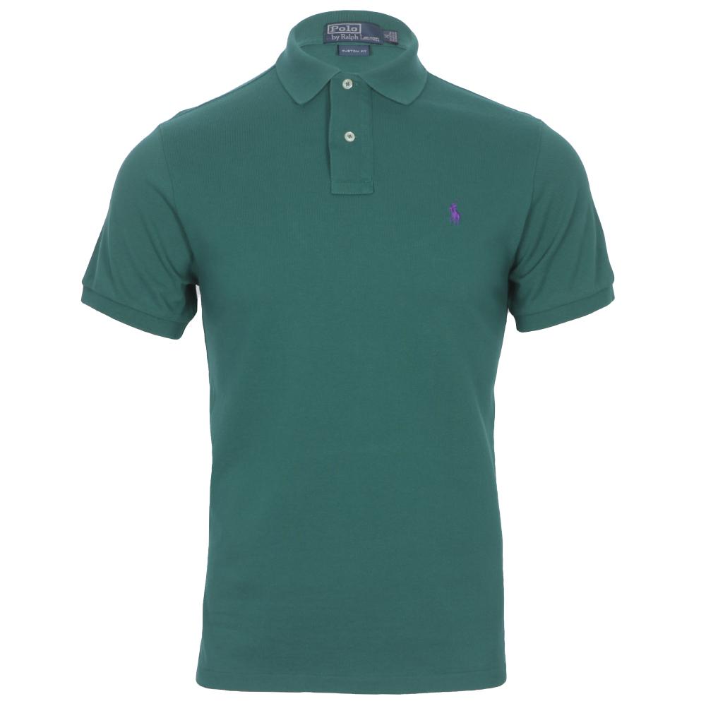 Ralph Lauren Green Custom Fit Polo Shirt Oxygen Clothing