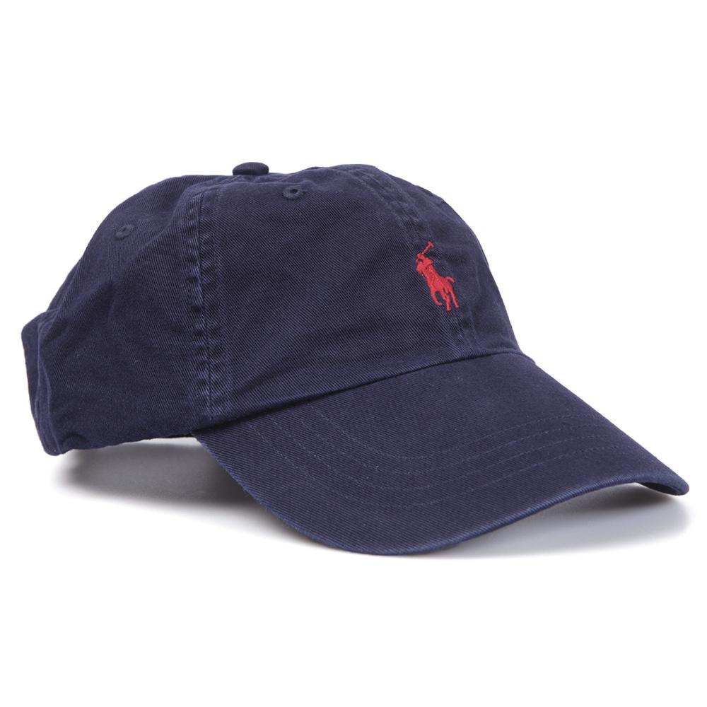 ralph lauren navy red classic sport cap oxygen clothing. Black Bedroom Furniture Sets. Home Design Ideas