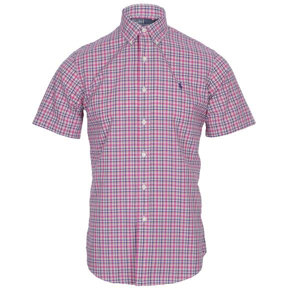 Ralph Lauren Pink Short Sleeve Check Shirt Oxygen Clothing