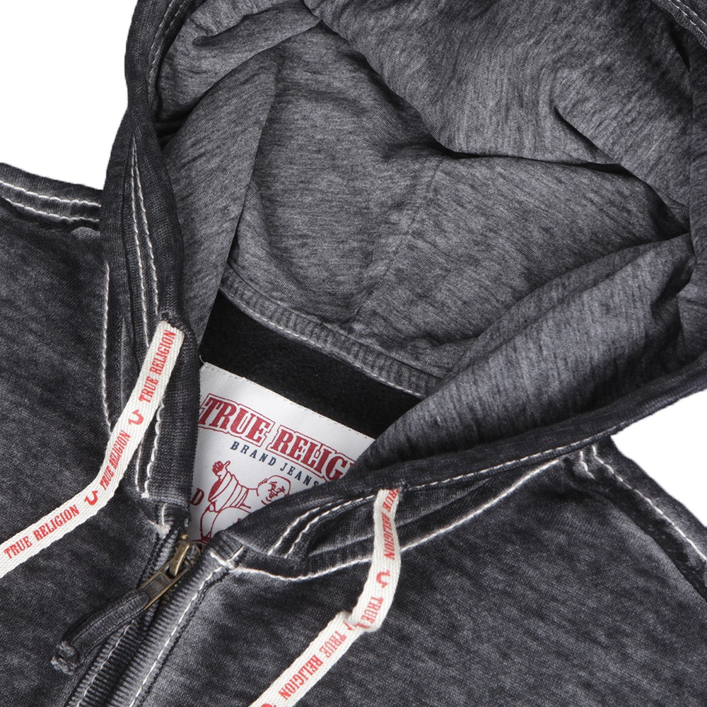 True Religion Charcoal Raw Edge Big T Hoody main image