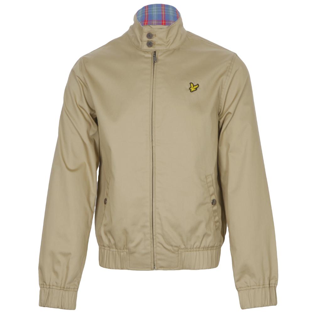 Lyle & Scott Camel Check Lined Harrington Jacket