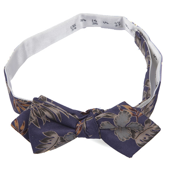 Scotch & Soda Mens Blue Scotch & Soda Summer Fun Bow Tie main image