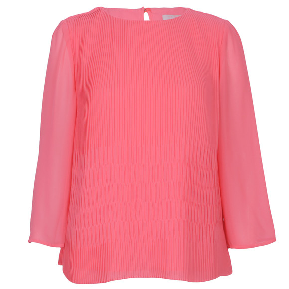 Ted Baker Womens Pink Gyda Long Sleeve Pleat Top main image