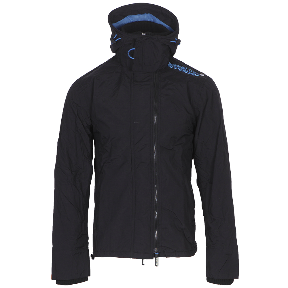 Superdry BlackDenby Blue Hooded Technical Pop Windcheater