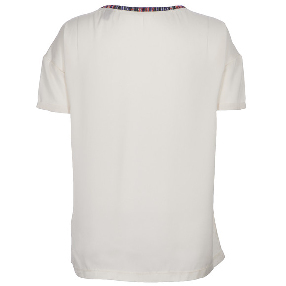Maison Scotch Womens Off-white Photo Print Top With Necklace main image