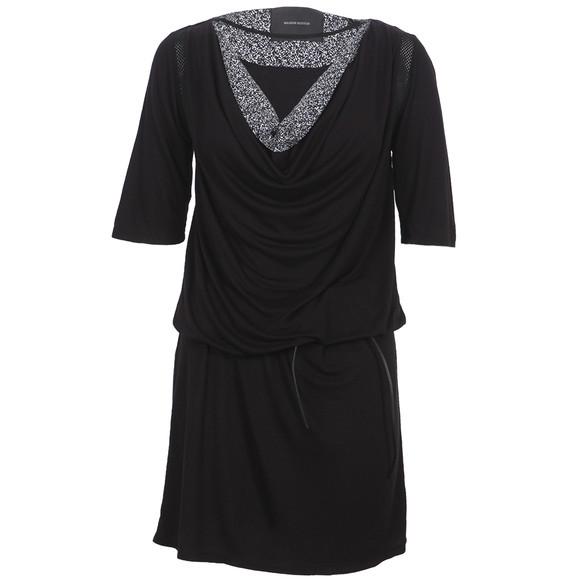 Maison Scotch Womens Black Drapey Jersey Dress main image