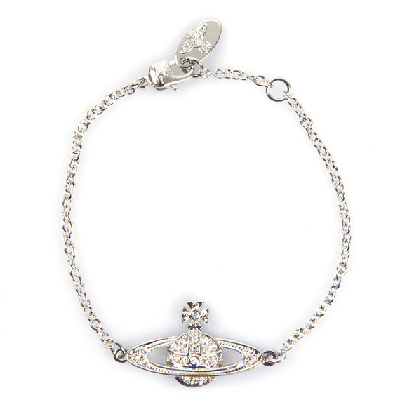 Vivienne Westwood Womens Silver Mini Bas Relief Chain Bracelet main image